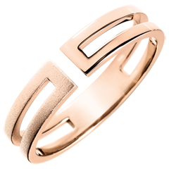 Gloria Ring - 9 carat brushed pink gold