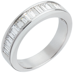 Half eternity ring white gold channel setting - 1 carat