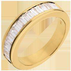Half eternity ring yellow gold channel setting - 1 carat