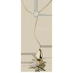 Halsketting Denkbeeldige Balade - Koningin der Spinnen - geel goud en diamanten