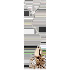 Halsketting Denkbeeldige Balade - Koningin der Spinnen - roze goud en diamanten