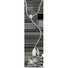 Halsketting Denkbeeldige Balade - Koningin der Spinnen - wit goud en diamanten