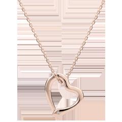 Halsketting Denkbeeldige Balade - Snake Liefde - klein model - rose goud en diamant - 9 karaat