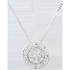 Halsketting Elsa - 22 Diamanten - 9 karaat witgoud