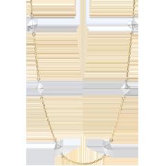 Halsketting Genesis - Ruwe Diamanten - geel goud - 9 karaat