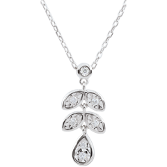 Halsketting Hesmé - 7 Diamanten - 9 karaat witgoud