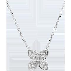 Halsketting Levensbloem - 16 Diamanten