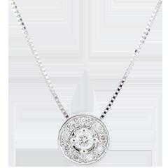 Halsketting Ludmila Diamant - 9 karaat witgoud