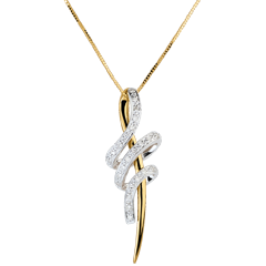 Hanger Slangenboog - 18 karaat witgoud en geelgoud