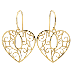 Heart-shaped Arabesques Earrings