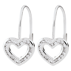 Heart-shaped Téa Earrings - 40 diamonds