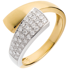 Hemisphere ring yellow gold paved - 0.26 carat - 34diamonds