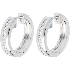 Hoops white gold inlaid diamonds - 0.33 carat - 22 diamonds