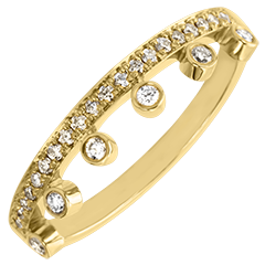 Inel Abundenţă - Maiestate - aur galben 18K şi diamante