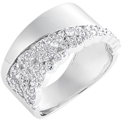 Inel Destin - Constance - aur alb de 9k și diamante
