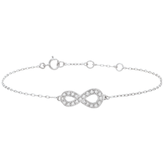 Infinity bracelet - White gold and diamonds - 9 carats