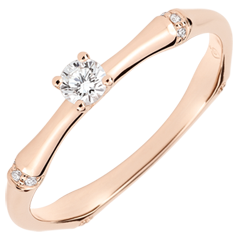 Jungle Sacrée engagement ring - 0.09 carat diamond - pink gold 18 carats