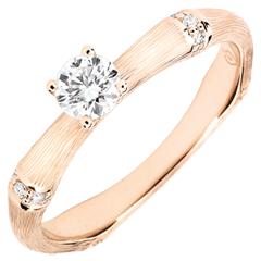 Jungle Sacrée man's engagment ring diamond 0.2 carat -brushed pink gold 18 carats