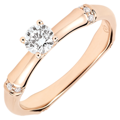Jungle Sacrée man's engagment ring diamond 0.2 carat -pink gold 9 carats