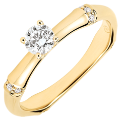 Jungle Sacrée man's engagment ring diamond 0.2 carat -yellow gold 18 carats