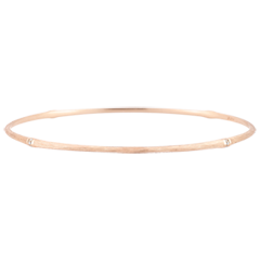 Jungle Sacrée Rigid Bracelet - diamonds - 18 carat brushed pink gold