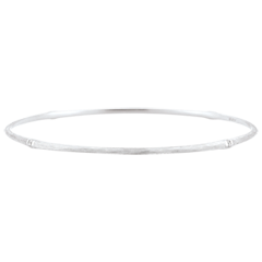 Jungle Sacrée Rigid Bracelet - diamonds - 18 carat white brushed gold
