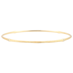 Jungle Sacrée Rigid Bracelet - diamonds - 9 carat brushed yellow gold