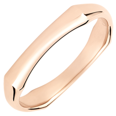 Jungle Sacrée wedding ring - 4 mm - pink gold 18 carats