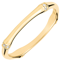 Jungle Sacrée wedding ring - Multi diamond 2 mm - yellow gold 18 carats