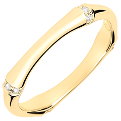 Jungle Sacrée wedding ring - Multi diamond 3 mm - yellow gold 18 carats