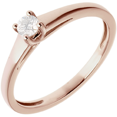 Klassischer Solitär Ring in Rotgold