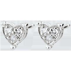 Kolczyki w kształcie serca Romy - złoto białe 9-karatowe