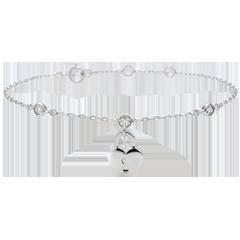 Kostbaar Geheim Armband - Hart - wit goud