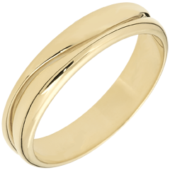 Love Ring - golden yellow wedding ring for men - 9 carat