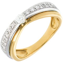 Maharajah ring yellow and white gold - 0.25 carat - 23diamonds