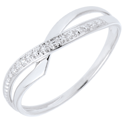 Marina Ring - White gold and diamond