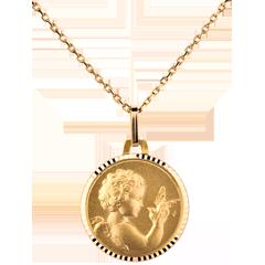 Médaille Ange à l'oiseau 14mm