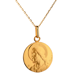 Médaille Christ - or jaune 18 carats