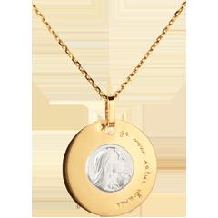 Medaille Maagd 18 mm - 18 karaat geelgoud