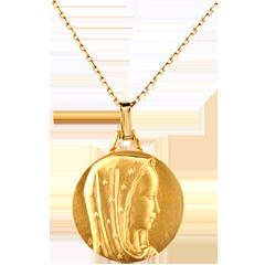 Médaille Vierge voile étoilé 18mm