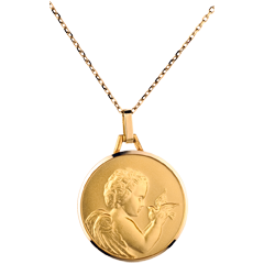 Medal of an Angel with a bird - 20mm