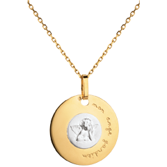 Medalla Angel Rafael moderno grabado 18 mm