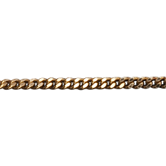 Medium Yellow Gold 42cm Gourmette Chain