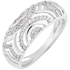 Mona ring - 18K white gold and diamonds