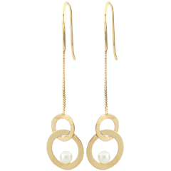 Mother-of-pearl Perch Earrings - pearls