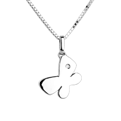 My little butterfly - large model - white gold