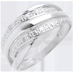Naja ring white gold paved - 4diamonds