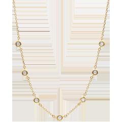 Naszyjnik z diamentem Caliste - złoto żółte 9-karatowe