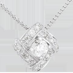 Naszyjnik Przeznaczenie - Perska Księżniczka - złoto białe 18-karatowe i diamenty
