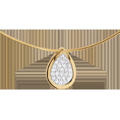 Naszyjnik z zawieszką Łza Gazeli - złoto żółte 18-karatowe